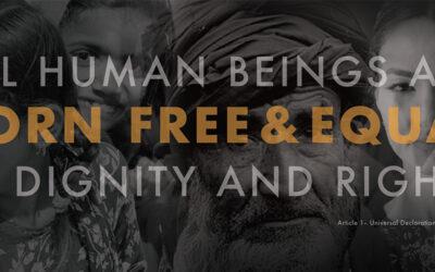 """""""Alla människor är födda fria och lika i värde och rättigheter."""""""